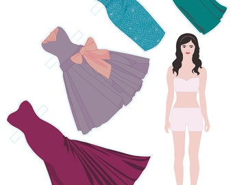 Morgan Paper Doll Set