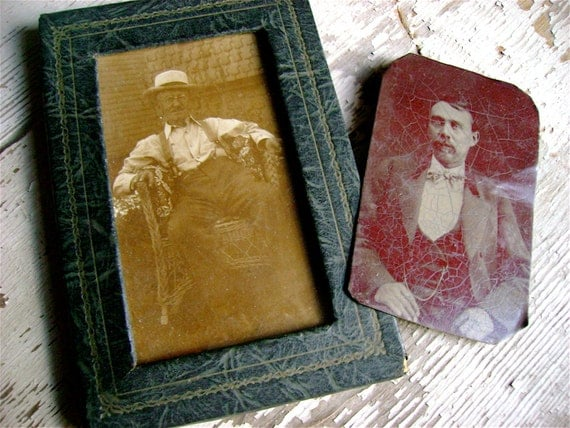 ANtique TIN Type Photo LOT