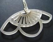 Clear Acrylic Sakura Pendant