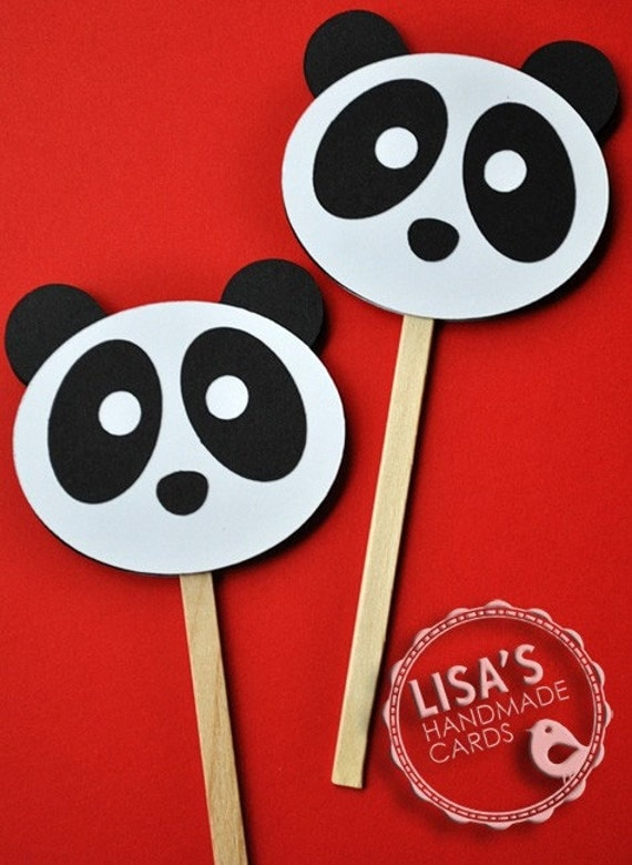 Items similar to Panda Cupcake Toppers, Handmade by Lisa ...