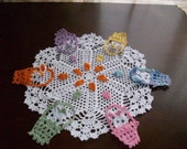 Easter Bunny Rabbit Doily~Pastels~Light Colors
