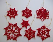 Lace Snowflake Ornament Set,christmas gift. by Arzu