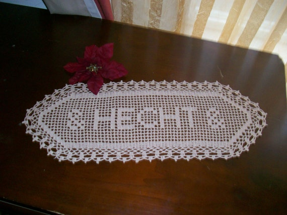 New Crocheted Name Doilly.personalized doily, personalized gift, gift for women,wedding gift, personalized crochet, gift for family,