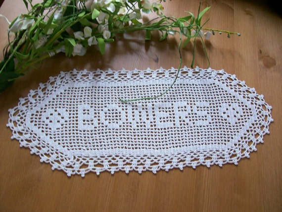 Crochet Name Doily,personalized doily,custom crochet name, gift for woman,personalized crochet doilies,doily,doilies letter,