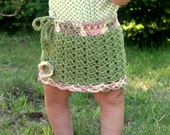 Instant PDF File For Crochet Floral Drawstring Mini Skirt Pattern (12-18 MOS) by Adirondack Patterns