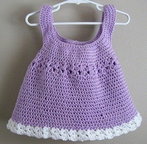 Instant PDF File for Crochet Flouncy Shell Tunic Pattern (5-6T)  by Adirondack Patterns