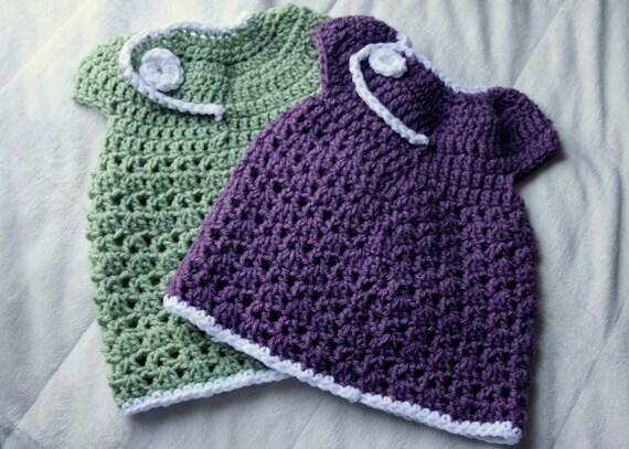 PDF Instant Download 0-3 Month Baby Crochet Dress Pattern