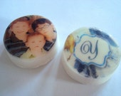 Custom Photo Guest Soap - set of 2 round