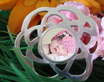 Custom Photo Pendant Flower Photo Jewelry