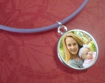 Photo Charm on Cord Necklace Big Sister Best Friend BFF