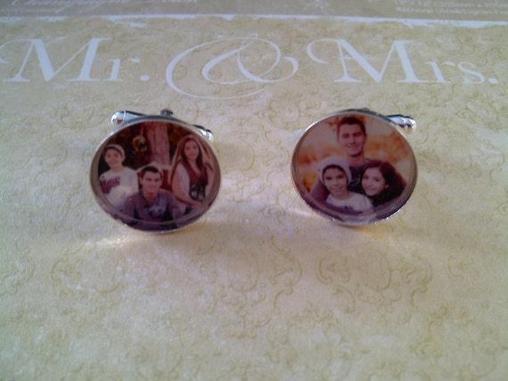 Groom - Father of the Bride - Wedding Personalized Photo Cufflinks