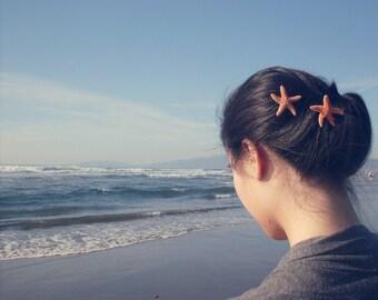 Starfish Bobby Pins Mermaid Hair Clip Bridal Bridesmaid Nautical Ariel Ocean Sea Beach Wedding Accessories Unique Womens Gift For Her Summer