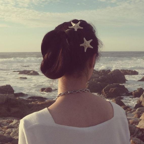Starfish Bobby Pins Mermaid Hair Clips Ariel Costume Nautical Ocean Sea Beach Wedding Accessories Unique Wife Girlfriend Womens Gift Summer