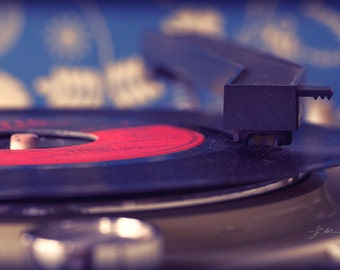 my old records, fine art photography print, 45 rpm single, vintage record player, phonograph,  oldie 70s