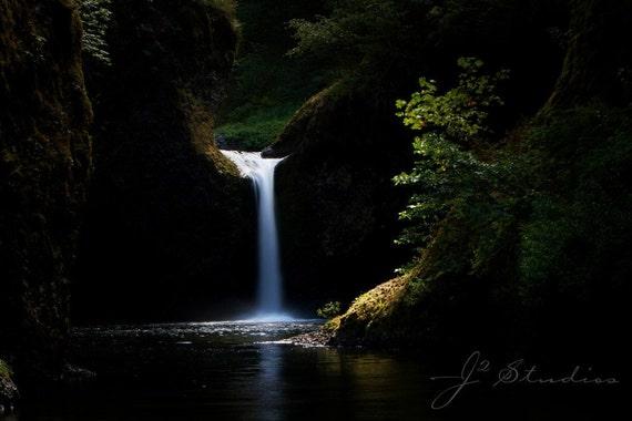 punchbowl falls photograph, waterfall art print, fine art, landscape photo, oregon photography