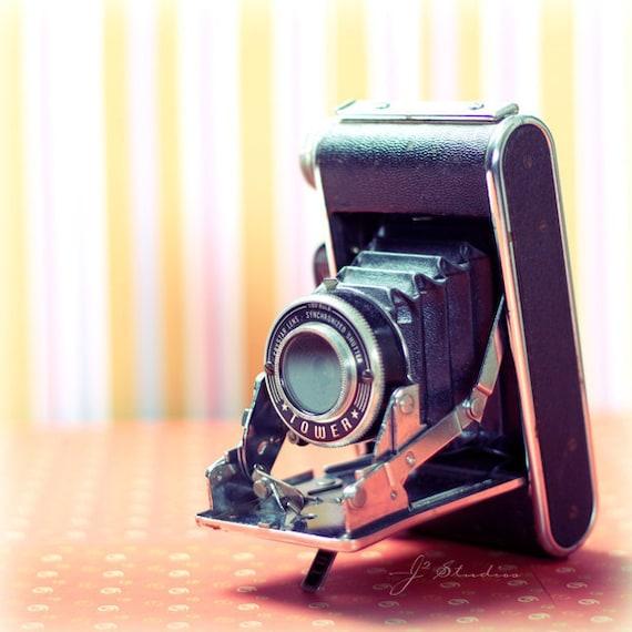 photograph print, vintage camera, art print, folding sears tower model 51, retro, 1950s, modern art