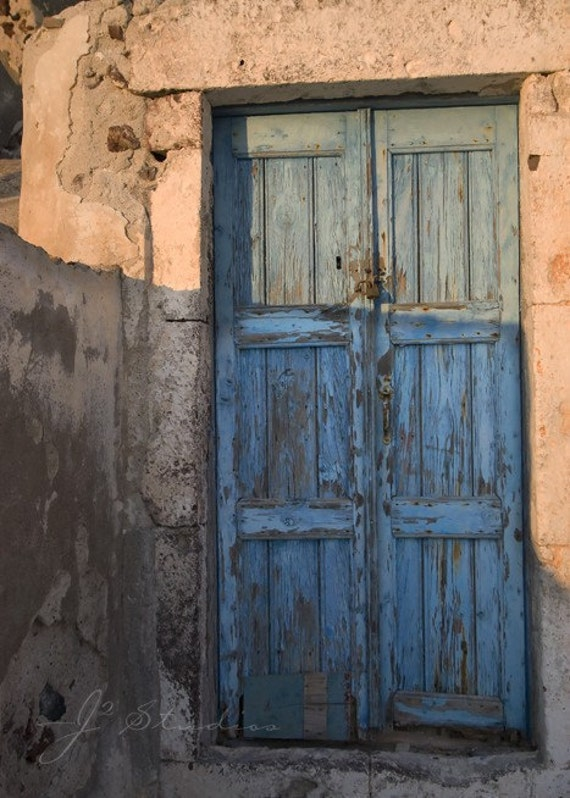 Blue Wooden Door Fine Art Door Photography By