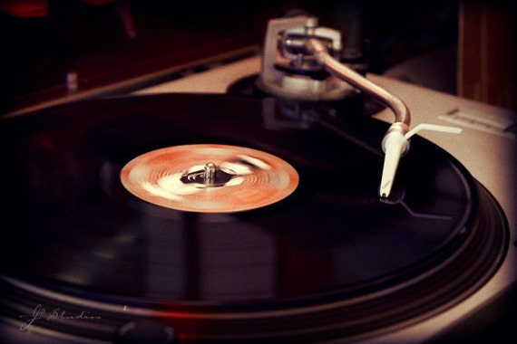 Items Similar To Record Player Photograph Turntable Art