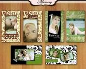 Senior Rep Cards, Graduation Photo Card 2X3.5 - Photoshop Psd Templates - No 317 - Remember Me, Senior Rep Photo 411 Cards