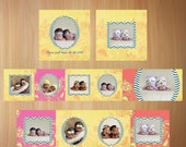 Accordion Mini Album Photoshop Templates For Photographers 3x3 - Charming Tropical Sorbe - No 484
