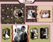 Accordion Mini Album Photoshop Templates For Photographers 4X8 - Chinoise Memory - No 328