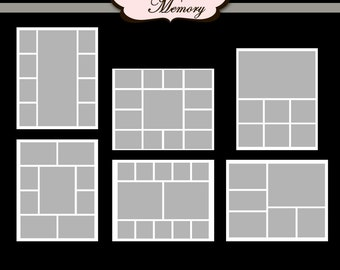 photoshop collage templates storyboard blog board psd files three 16x20 and three 20x16. Black Bedroom Furniture Sets. Home Design Ideas