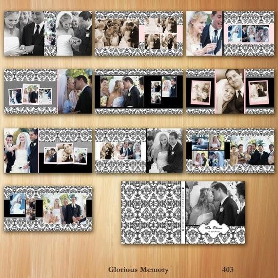 Wedding Album Photoshop Templates For Photographers 12X12