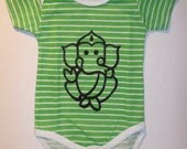 Baby Onesie T-shirt Undershirt Hindu God Ganesha Silk Screen Image