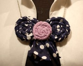 Bib Necklace Handcrafted Uncycled Fabric Large Handmade Jewelry Artisan Fashion Accessory Boho Style