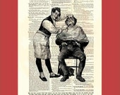 Dictionary Page Print: Vintage. Leering. Barber. Upcycled art. BONUS - Buy 3 Prints, Get 1 More extra