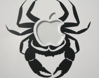 Crab apple Macbook sticker decal in black or white - Free shipping to Canada and USA