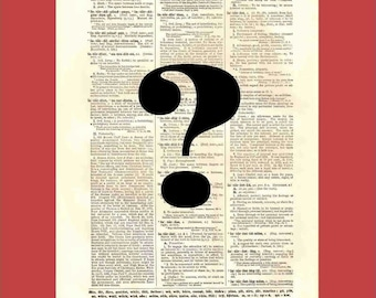 When Words Are Not Enough (or Too Much) Part 2 - upcycled 8x10 1898 dictionary page print - BONUS - Buy 3 Prints, Get 1 More For FREE