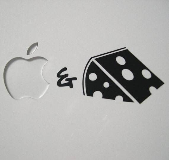 Mac and Cheese Macbook sticker decal in black or white - Free shipping to Canada and USA