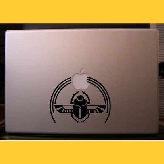 Scarab Macbook sticker decal in black or white - Free shipping to Canada and USA