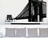 Vinyl Wall Decal Sticker Brooklyn Bridge New York item 149-33x72