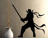 Vinyl Wall Decal Ninja Martial Arts Sword    GFoster110