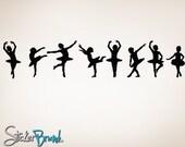 "Vinyl Wall Decal Sticker Little Dancers Children Ballerinas 71""x15"" item 816-15x71"
