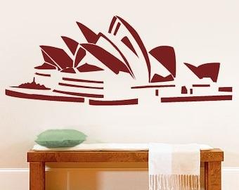 Vinyl Wall Art Decal Sticker Sydney Opera House Decor 157