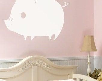 Vinyl Wall Art Decal Pig Piglet Piggy Decoration 166
