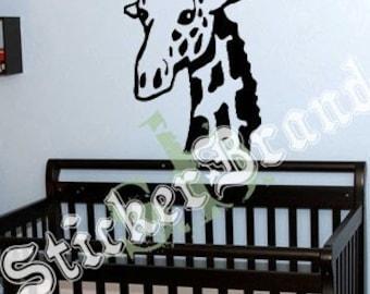 Vinyl Wall Art Decal Sticker Giraffe Neck 146A