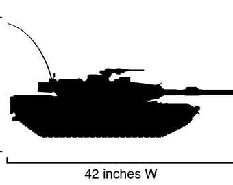 Vinyl Wall Decal Sticker Military Tank item 211