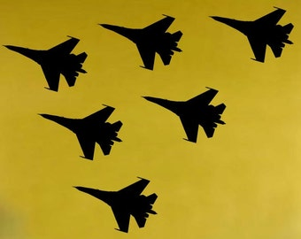 Vinyl Wall Decal Sticker 6 Military Fighter Jets Decal 228