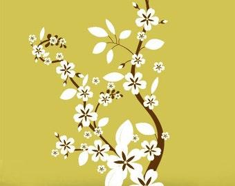 Vinyl Wall Decal Sticker Flower Floral Asian Blossom 284