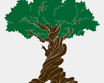 Vinyl Wall Decal Sticker Old Wise TREE 297A 72in Tall X 66in Wide