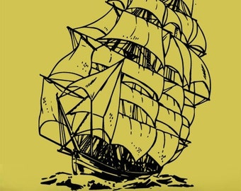 Vinyl Wall Decal Sticker Sailboat Pirate Ship 251