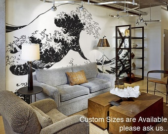 Vinyl Wall Decal Sticker Japanese Great Wave Hokusai 363B
