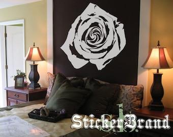 Vinyl Wall Decal Sticker White Rose Flower Floral 365