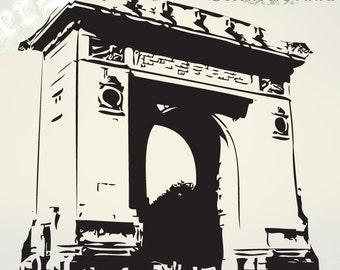 Vinyl Wall Decal Sticker Arc de Triomphe France 377A