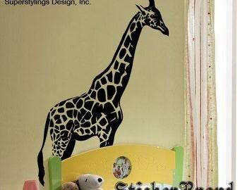 Vinyl Wall Decal Sticker 7ft Tall BIG Giraffe 383