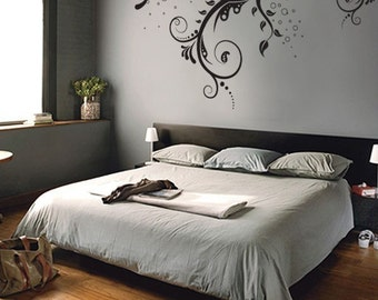 Vinyl Wall Decal Sticker Flower Floral Swirl #310A 44in X 66in